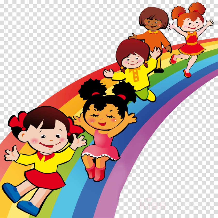 Cartoon rainbow clipart.