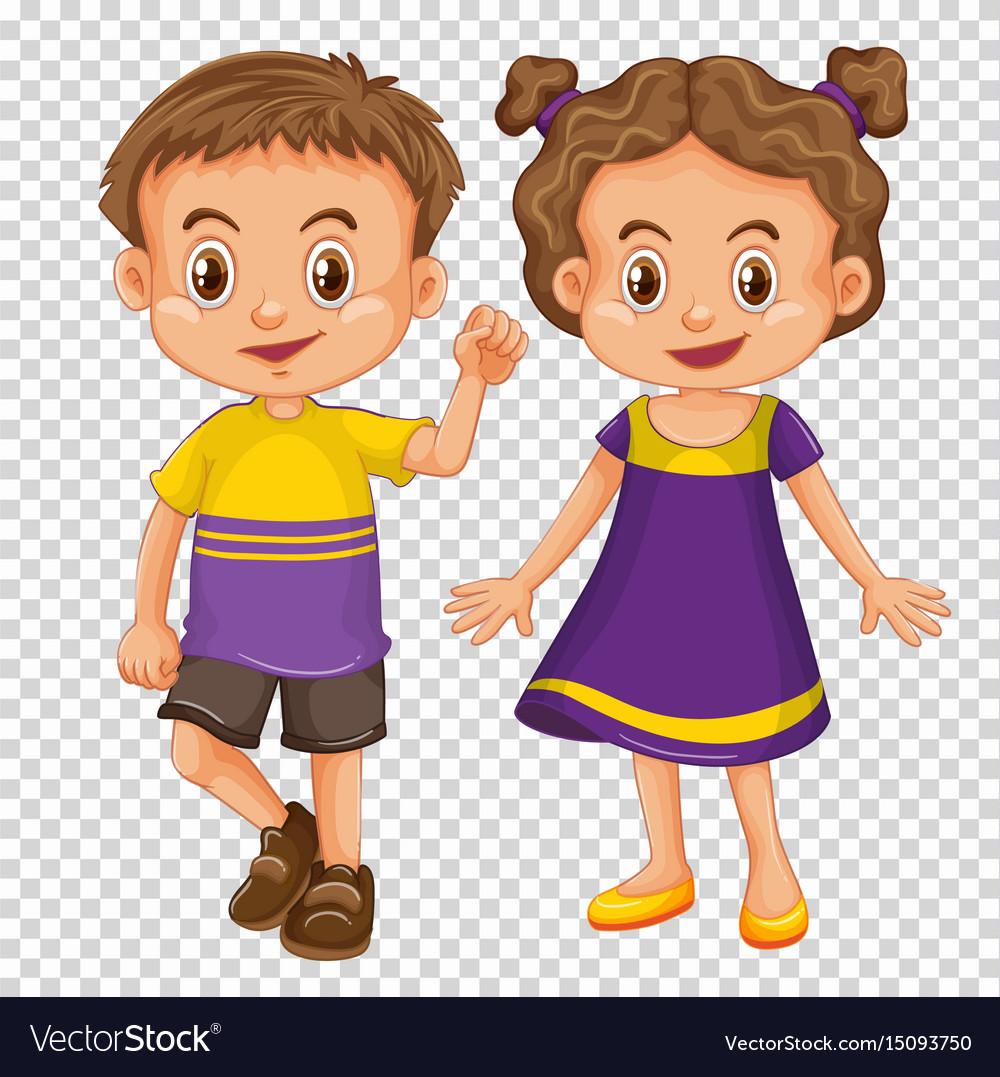 Cute children transparent.