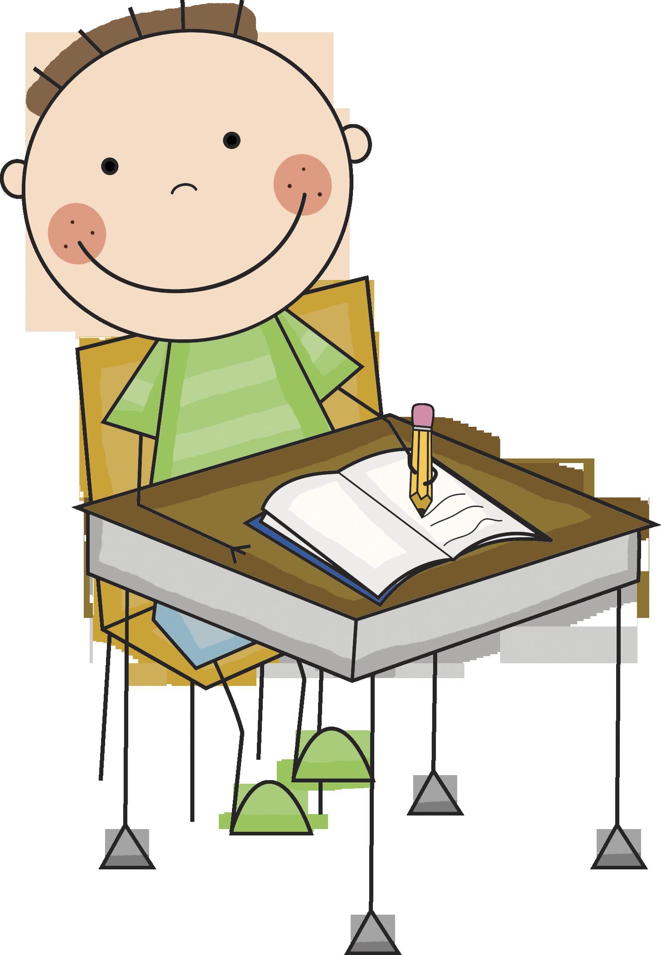 children writing clipart boy