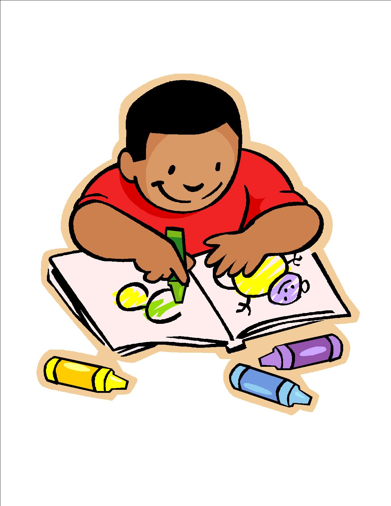 Children writing clipart independent. Free images of download