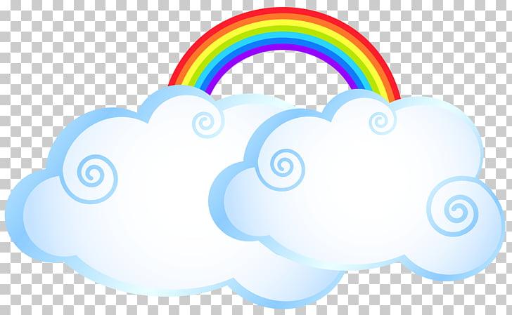 Rainbow cloud cartoon.