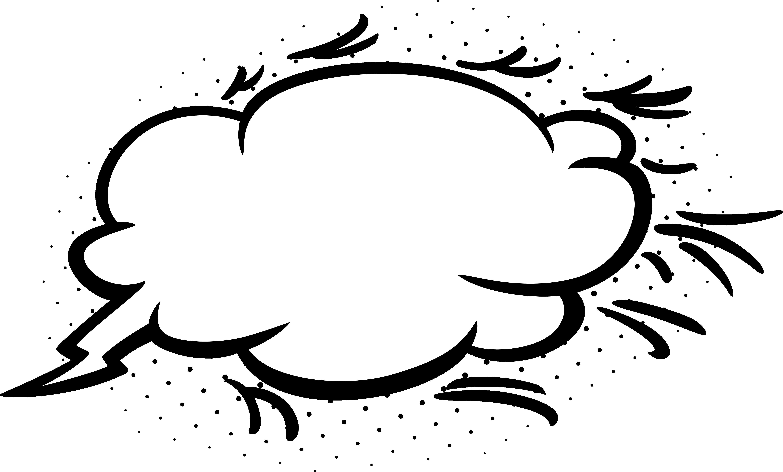 Empty Comic Bubbles Cloud Clipart Png Image Download