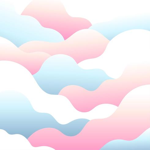Abstract cloud pastel.