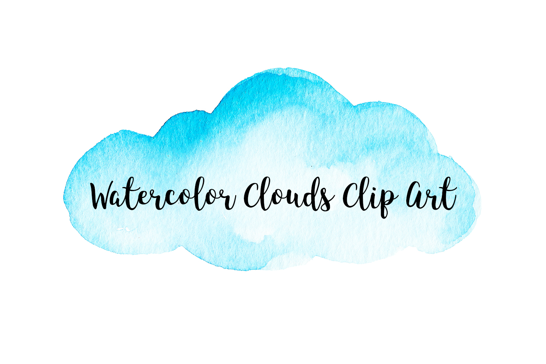 Watercolor clouds clip.