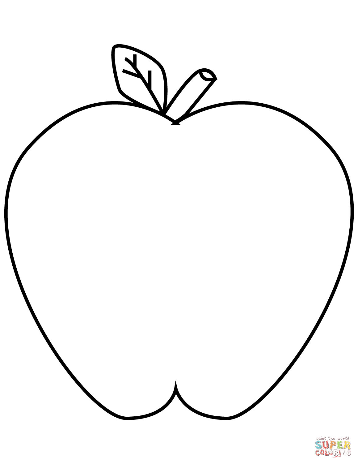 Apples coloring pages.