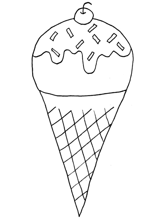 Free Ice Cream Cone Coloring Page, Download Free Clip Art