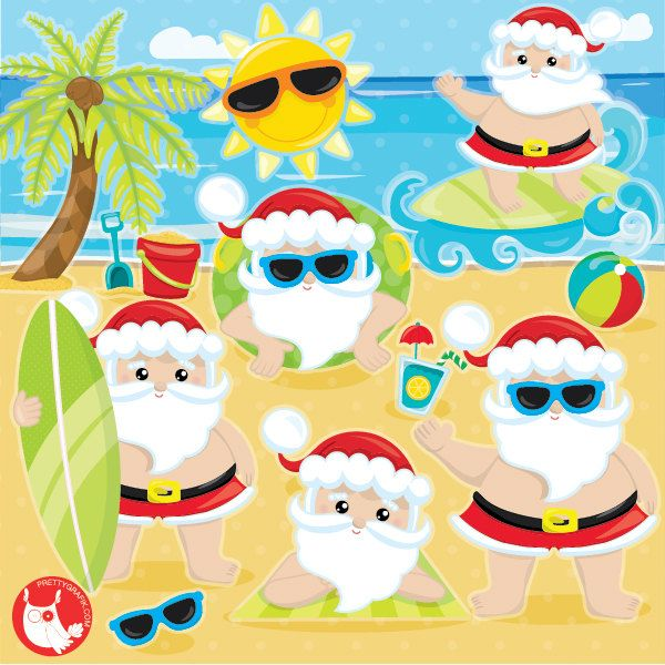 santa claus clipart summer