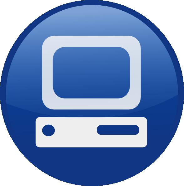Blue computer desktop.