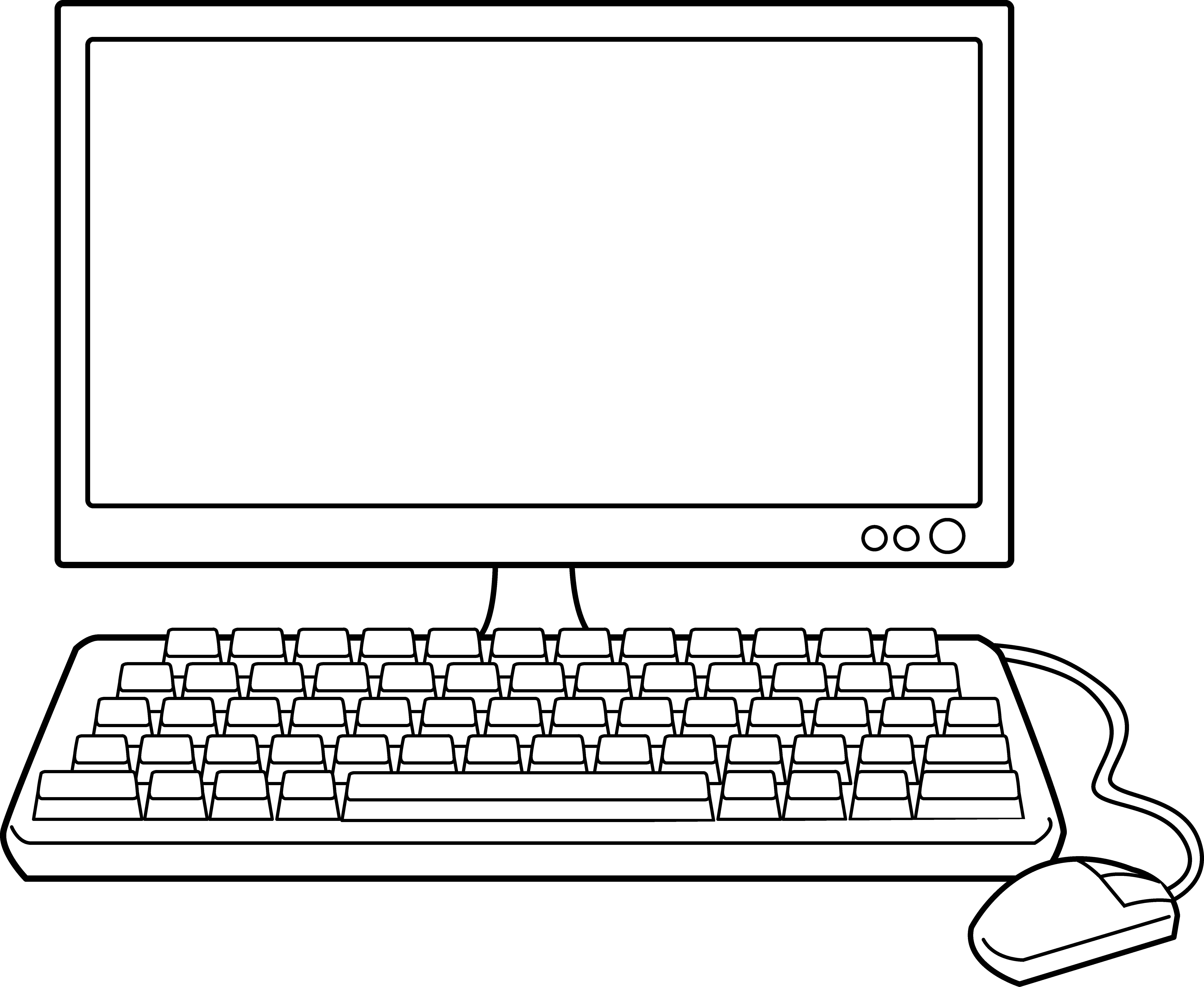 Computer desktop clipart.
