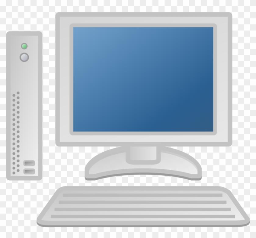 Clipart computer desktop.