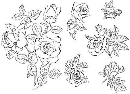 Coreldraw flower design free vector download