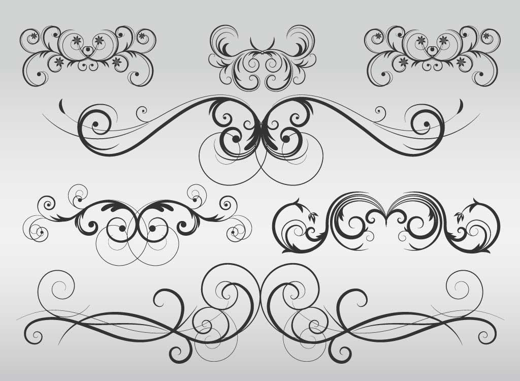 Flourishes clipart free vector ornament, Flourishes free