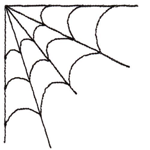 Spider Web Corner Clipart