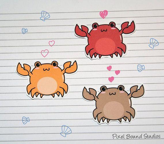Chibi crab stickers.