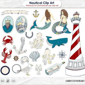 Nautical clip art.
