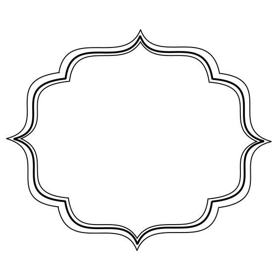 Free filigree frame.