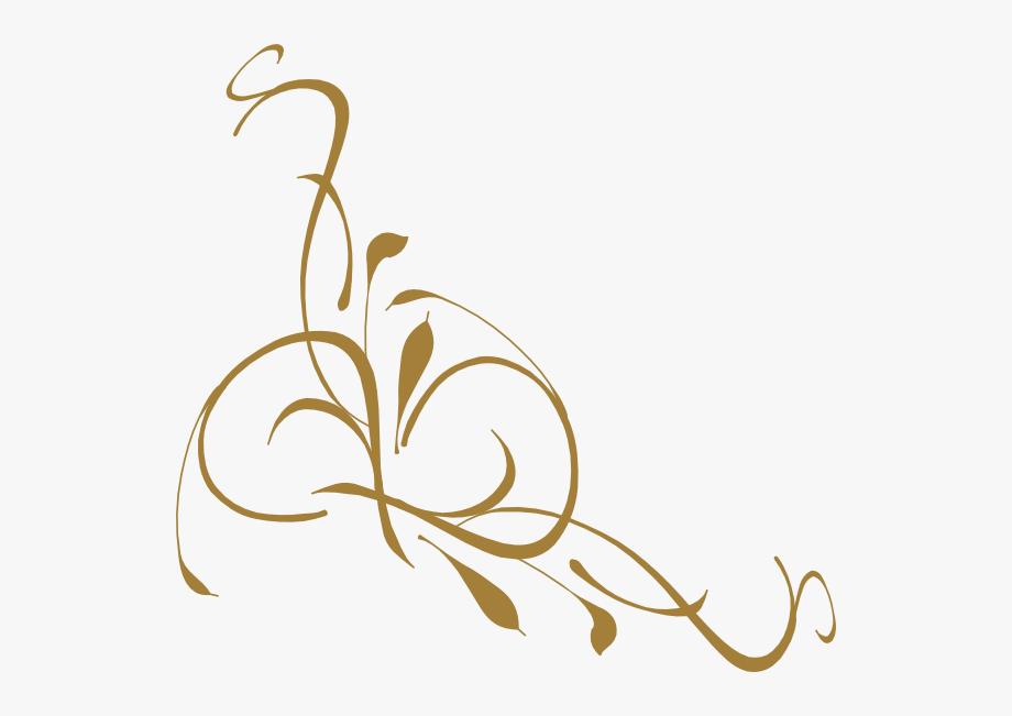 Gold elegant swirl.