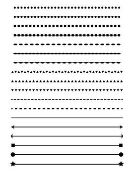 Simple shape line.