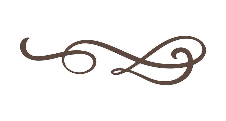 Vintage line elegant divider, swirl,