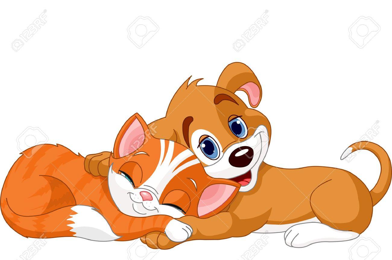 Clipart dog cat