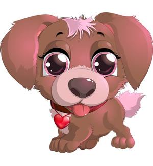 Dog clipart cute.