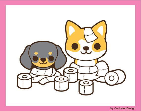 Kawaii dog clip.