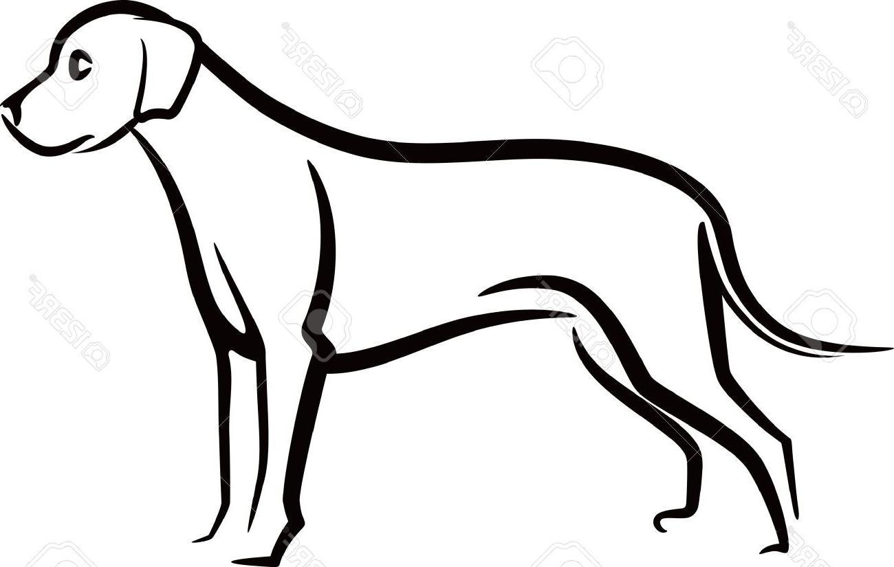 Dog Outline Cliparts