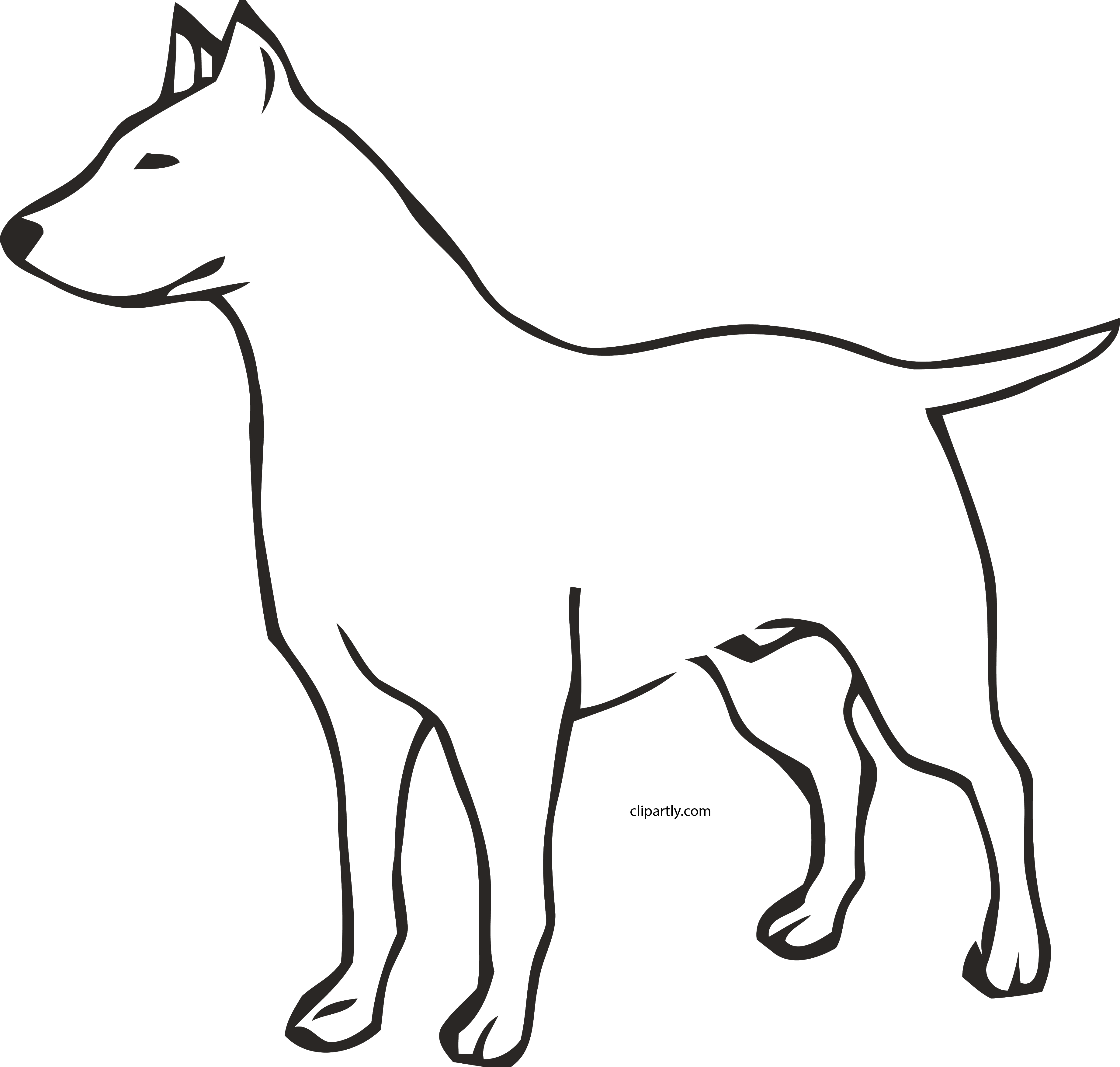 Download Free png HD Dog Outline Clipart Png