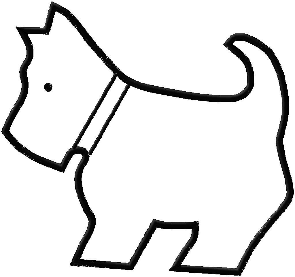 Free Dogs Outline, Download Free Clip Art, Free Clip Art on