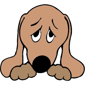 Dog Sad clipart, cliparts of Dog Sad free download