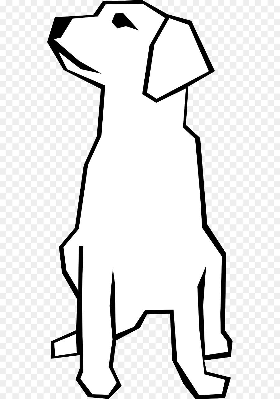 Dog sitting clipart.