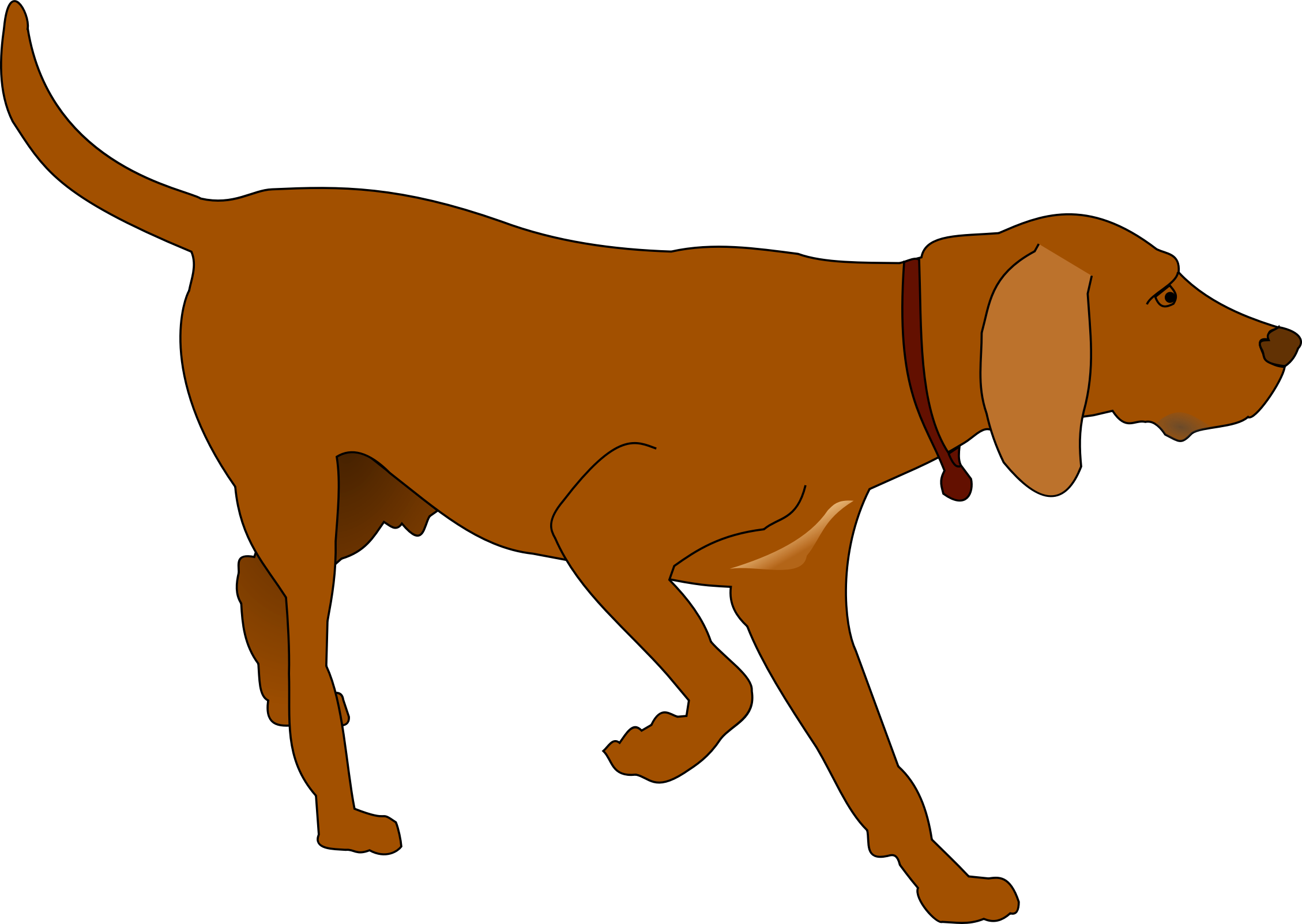 Hunting dog vector.