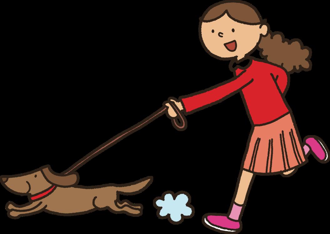 Dog walking clip.