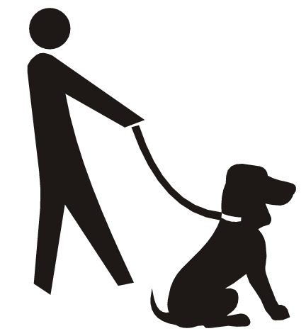 Free dogwalking cliparts.