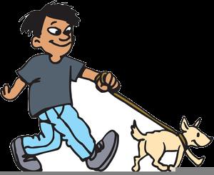 Dog walking walk.