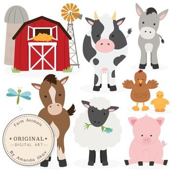 Premium Farm Animals Clip Art