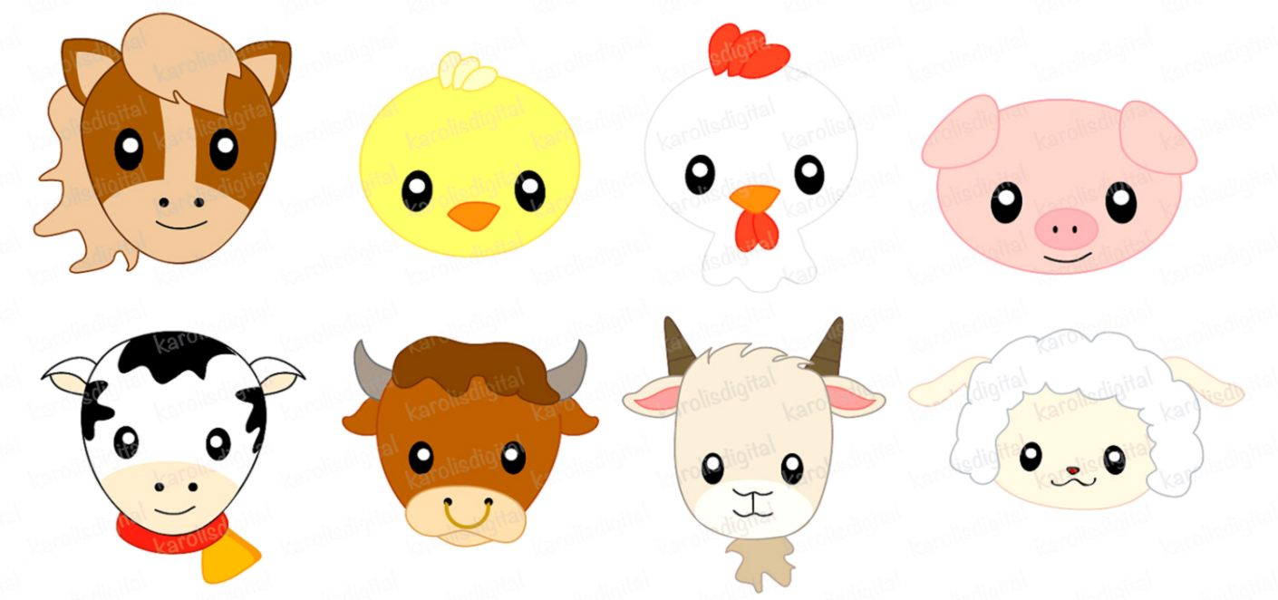 Baby farm animals.