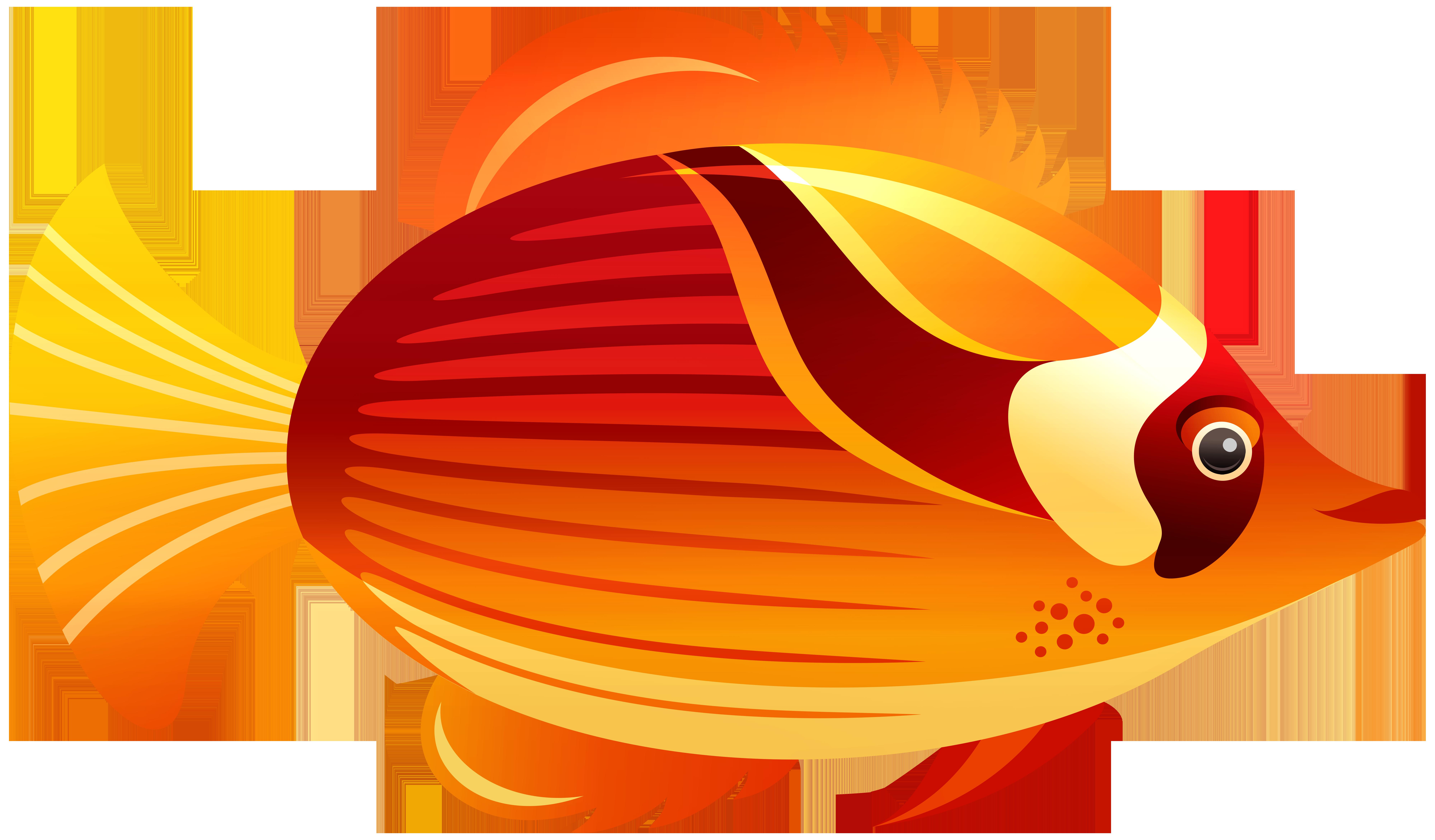 Orange fish png.