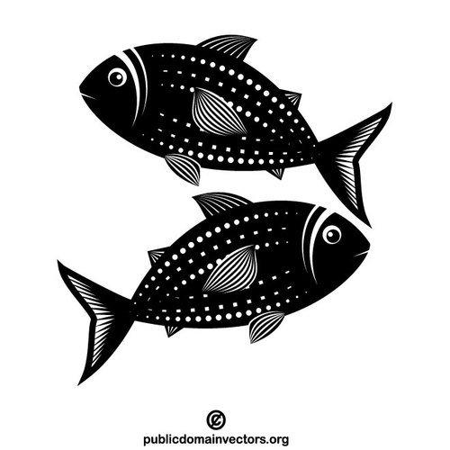 Fisch schwarzwei vektor.