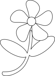 Black white flower.