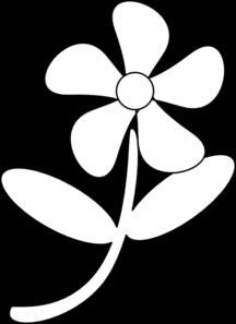 Black White Flower Clip Art at Clker