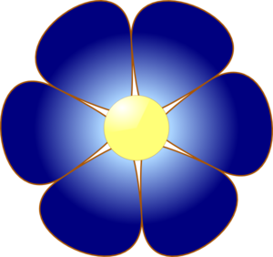 Blue flower clip.