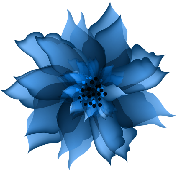 Decorative flower blue.