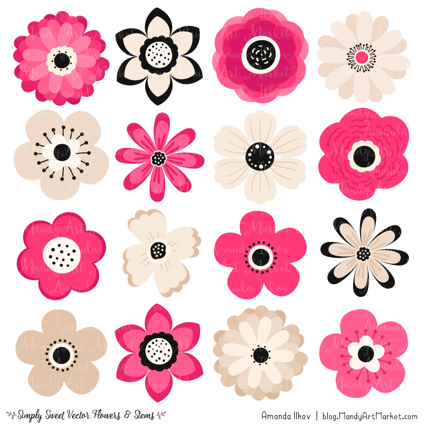 Hot pink flower.