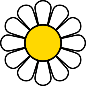 Yellow daisy clip.