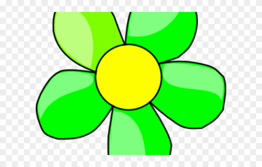 Flowers clipart green.