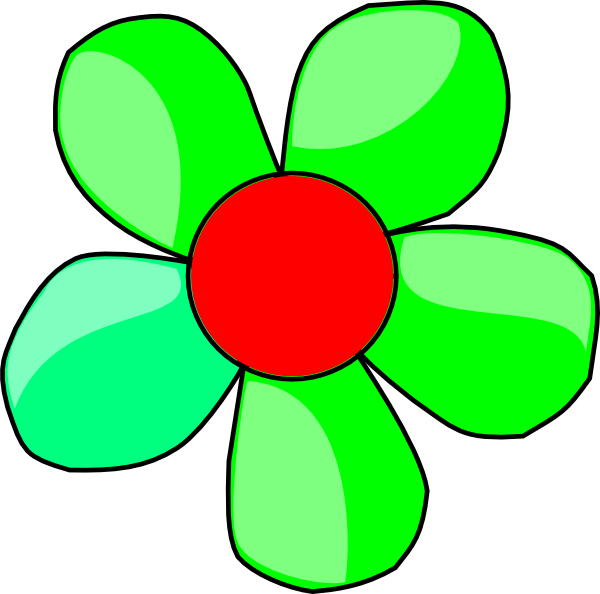 Green flower clip.