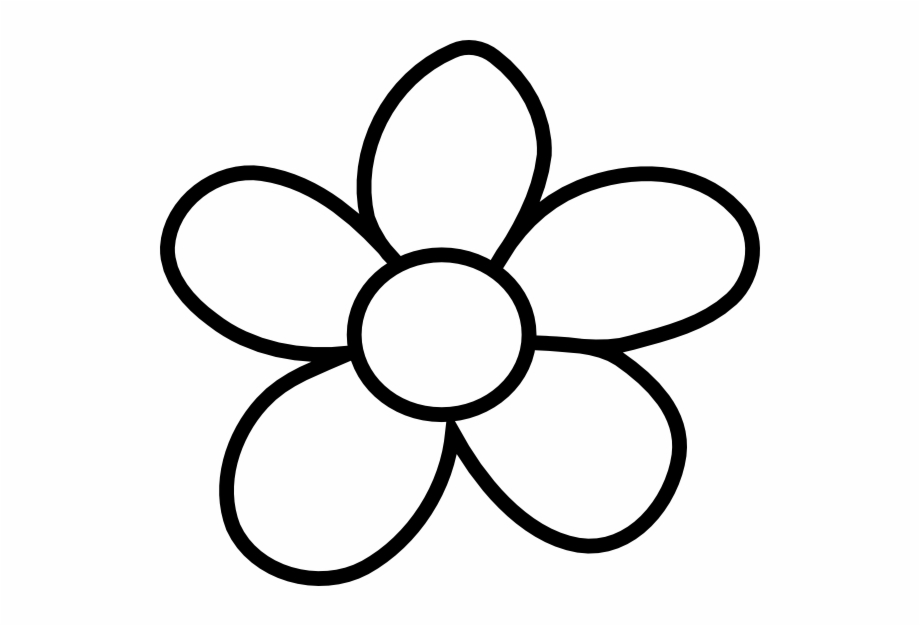 Black flower outline.