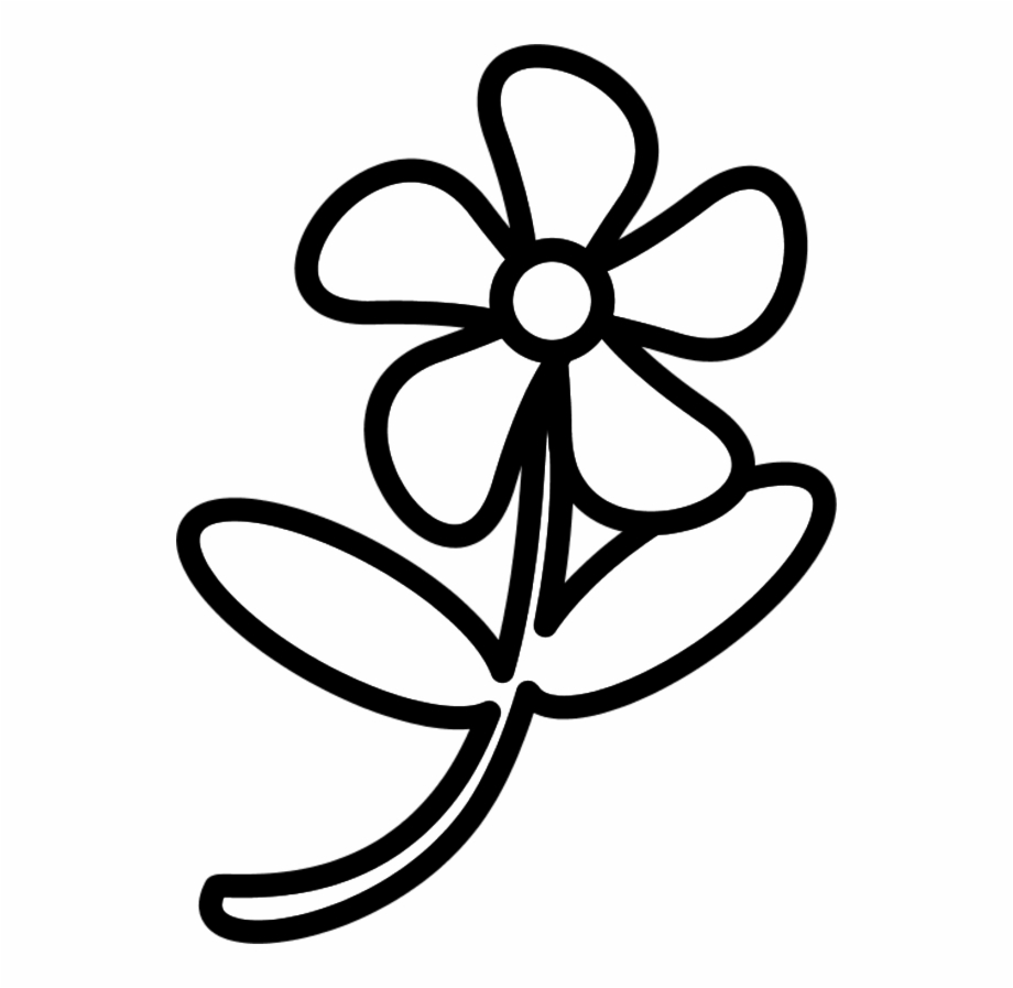 White flower outline.