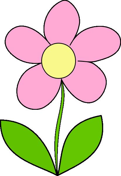 Flower pink clip.
